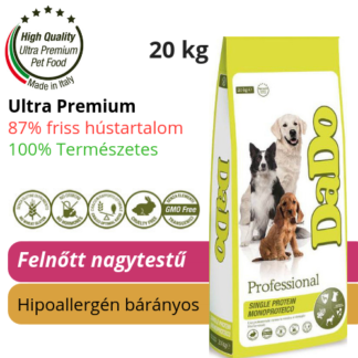 DaDo bárányos hipoallergén kutyatáp nagytestű felnőtt kutyáknak