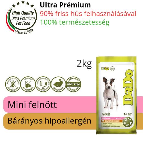DaDo mini felnőtt bárányos hipoallergén kutyatáp