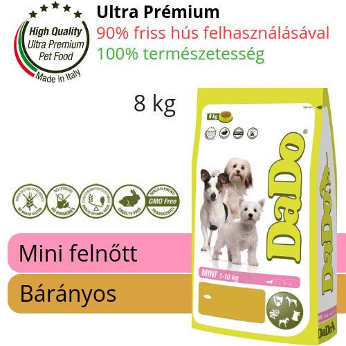 DaDo hipoallergén bárányos kutyatáp 8kg